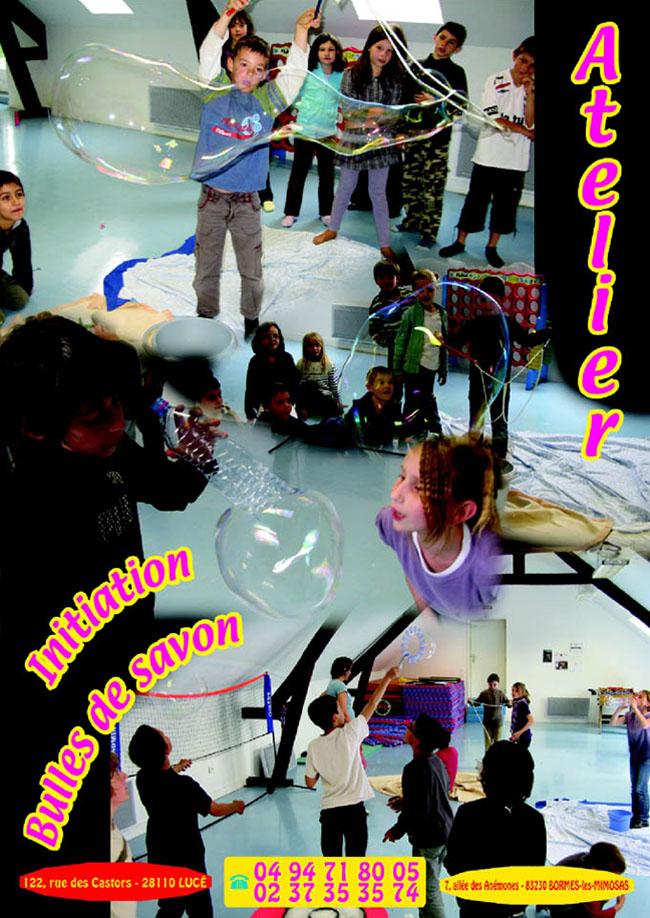 Atelier enfants bulles
